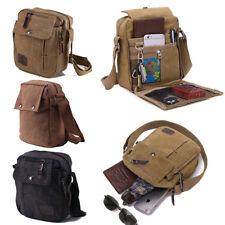 Men's Military Canvas Travel Hiking Satchel School Casual Shoulder Messenger Bag