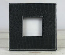 Black Crocodile Look Picture Frame