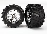 """Traxxas 6771 - Maxx Tires, All-Star Chrome 2.8"""" Wheels (2)"""