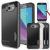 For Samsung Galaxy J3 Prime/J3 Emerge/Luna Pro Case Cover+Glass Screen Protector