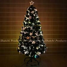Artificial Fiber Optic Christmas Tree With LED Stars Xmas Home Decor 6ft 180cm