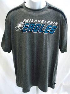 Philadelphia Eagles Football Short Sleeve Performance Shirt Dark Gray Large New