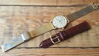 GENT'S VTG GOLD CAPPED PRESENTATION ENGRAVED OMEGA AUTOMATIC WATCH RARE DIAL