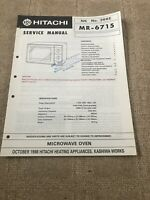 Hitachi MR-6715 service manual For Microwave Oven