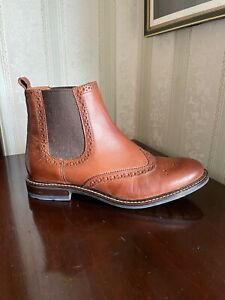 Fifth Avenue TanLeather Brogue Women's Chelsea Boots 39 UK 6