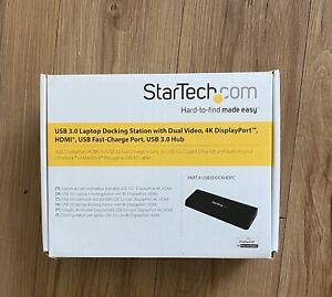 Startech.com USB3DOCKH2DPC 3.0 4K HDMI Monitor Universal Laptop Docking Station