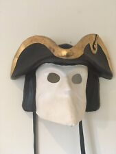 More details for pirate mask from venice in paper mache  authentic venetian italy