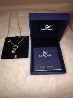 Swarovski Necklace With Key Charm - Authentic - Brand new