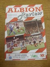 12/12/1992 WITTON Albion V Wycombe Wanderers [Ultimo non LEAGUE STAGIONE] (Team Chan