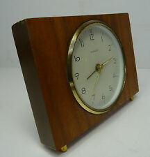 mid century design 60s Teak Wecker Uhr Alarm Clock Kienzle made in Germany 60er
