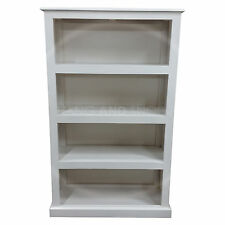 HAND MADE DEWSBURY FURNITURE 3 SHELVED BOOKCASE WHITE (ASSEMBLED)