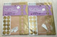 Vintage Ruth Barry Utility Sheer Seamless 100% Nylon Hosiery Size 9 Fashion Tan