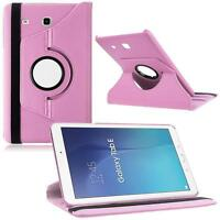 "Hot 360 Rotated PU Leather Smart Case for 9.6"" Samsung Galaxy Tab E T560 Pink ZH"