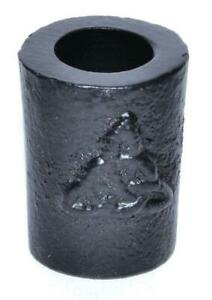 1.25 Inch Triquetra Black Cast Iron Chime Candle Holder!