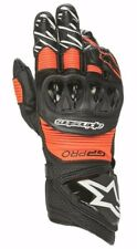 Alpinestars GP PRO R3 Black Red Fluo (1030) Glove Leather Motorcycle Race Gloves