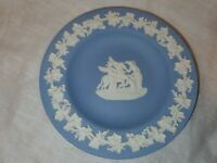 Wedgewood Jasperware Light Blue Small Plate Pegasus Great Condition (36)