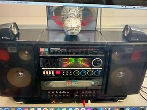 RADIO RECORDER DISCOLITE XC-151 VINTAGE BOOMBOX MUSIC DANCING SEE VIDEO WORKING
