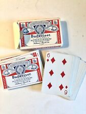 Budweiser Beer Playing Cards