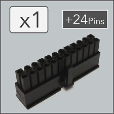 x1 24 pin Female ATX EPS Power Connector PSU Socket - Black + 24 Pins