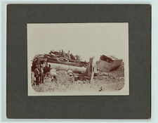 RARE  Photo - Railroad Train Disaster - Near Brookings SD 1890s South Dakota