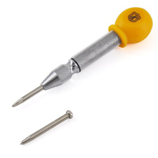 "MulWark 5"" Spring-Loaded Automatic Steel Center Hole Punch Marker Scriber For..."