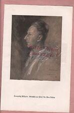 1925, Bildnis Fotografie Kronprinz Wilhelm. Gemälde von Prof. Dr. Max Rabes