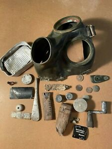 WW2 WWII German Wehrmacht Field Gear Relics Lot M24 Luftwaffe Gas mask original