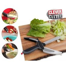 Clever Cutter 2-in-1 Knife & Cutting Board Scissors As Seen On TV FREE UK POST