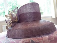 BNWOT Stunning Jacques Vert mauve/beige wedding/special occasion large hat