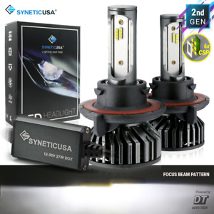 Syneticusa 9008 H13 LED Headlight Bulb Kit CSP High Low Beam Light 6000K White