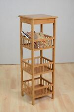 Wooden 4 Tier Shelf Bookcase Stand Storage Shelves Display Unit Bamboo Wood