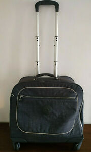 JH670) Kipling wheeled Blue City Work School Hand Luggage Laptop Bag