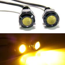 For Jeep TJ CJ JK YJ Wrangler Tube Fender AMBER LED Turn Signal Indicators