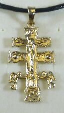 CROCE DI CARAVACA IN ORO GIALLO 750 18 K YELLOW GOLD CARAVACA CROSS PENDANT