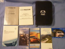 Mazda Tribute 2004 Owner's Manual with Carry Case and Additional Booklets
