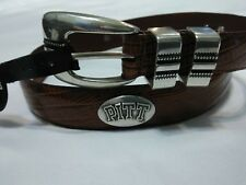 Men's Brown Leather Belt with University of Pittsburg Conchos Size 28 R