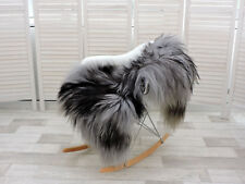 AMAZING REAL ICELANDIC SHEEPSKIN RUG SINGLE GREY/BLACK, 230