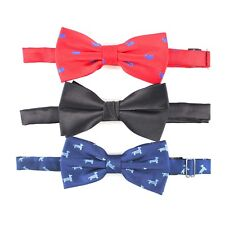 Microfiber Jacquard Animal Bow Tie Dog Bow Tie Novelty Bow Tie 3 pcs Set In Box