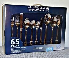 NEW J.A. HENCKELS INTERNATIONAL 18/10 STAINLESS STL ALCEA 65-PIECE FLATWARE SET