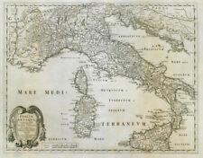 ITALIA Antiqua... CUM insulis Sicilia, Sardegna & Corsica. ROSSI/SANSON Mappa c1697