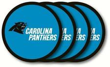 Carolina Panthers Vinyl Coasters 4 Pack Duck House Sports 4in. Diameter Washable