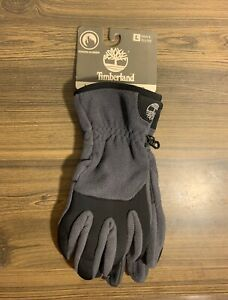 Timberland Midweight Commuter Gloves Fleece Touch Screen Gray Men's Size Large