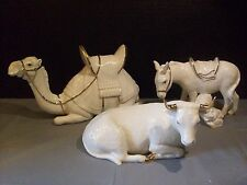 Lenox Oh Holy Night Christmas Figurines Camel Donkey Cow Nativity Fine Porcelain