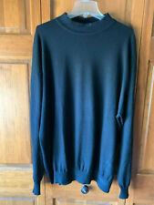 Mens 3XT Black Turtleneck Sweater