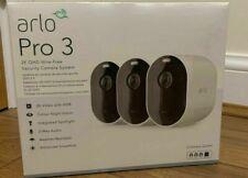 ARLO Pro 3 2K WiFi Security Camera System - 3 Cameras White