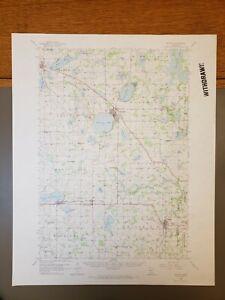 "Buffalo, Minnesota Original Vintage 1958 USGS Topo Map 21""x17"""