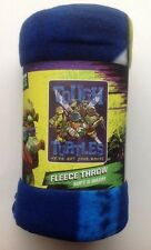 "Blanket Throw Fleece 46""x60"" Nickelodeon Tmnt Ninja Turtle Blue New"