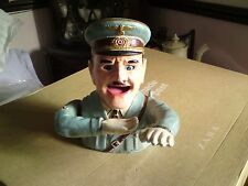 A Reproduction  Cast Iron Hitler Money Bank Box. 19cm Tall.Aprox,