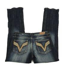 Women's VIGOSS Jeans Size 7- 7x31 Bootcut Med Wash Stretch P8035J V Pockets NEW