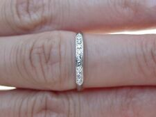 Vintage antique diamond JABEL Design women platinum wedding band